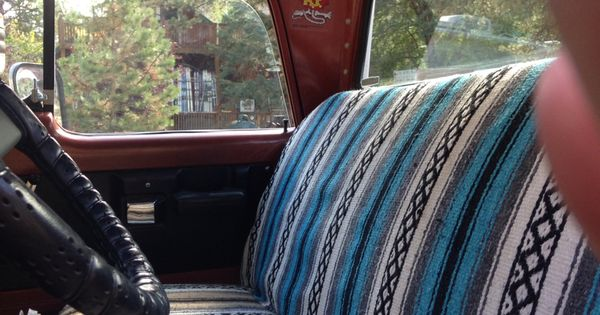 Baby Car Seats Leather 1970 Sweptline Interior Kustom Mexican Blanket Seat