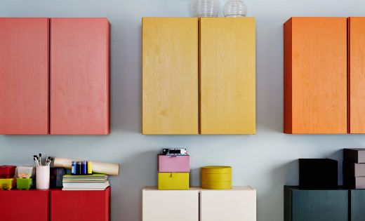 Storage Cabinets With Doors And Shelves Ikea Ikea Wall-mounted Ivar | Home Styling | Pinterest