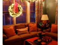 Lighted garland above the window. A holiday favorite of ...