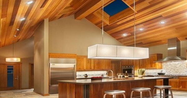 Pendant Lighting For Kitchen Multi-color Wood Ceiling Recessed Lighting Modern Fixture