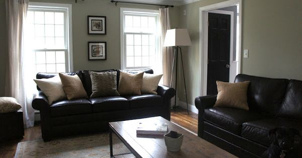 Beach House Window Treatments Decorating With Black Leather Couches | My House