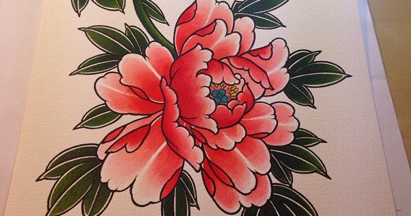 Painting for a t shirt blackgardentattoo