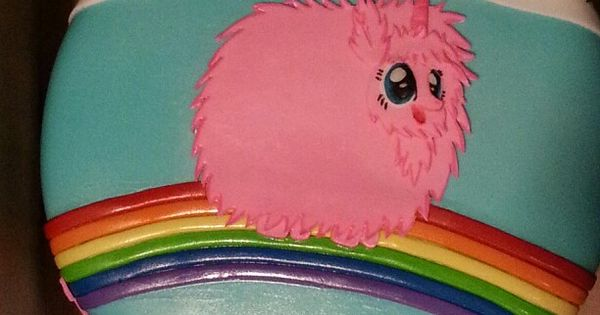 Cute Cupcake Wallpaper Pink Fluffy Unicorn Dancing On Rainbows Cakes By Me