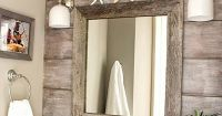 Wood paneling accent wall idea for a beach bathroom: http ...