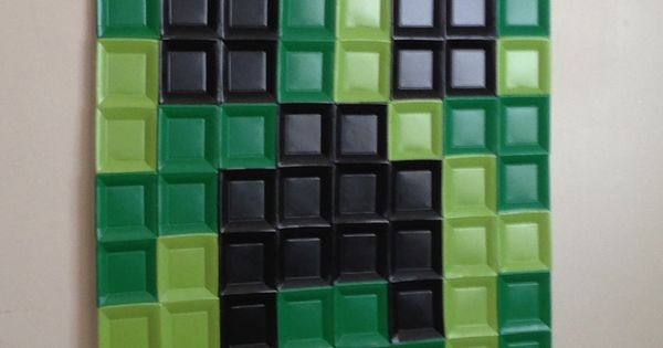 Minecraft Creeper Paper Plate Wall Art Paper Plates From