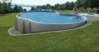 Above ground built into hill | Pool ideas | Pinterest ...