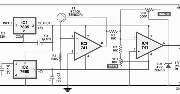 digital thermometer using arduino electronic circuits and diagram