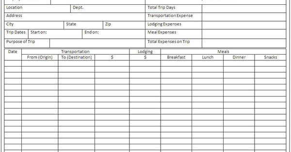 Sample Expense Report Template Marketing Pinterest - basic expense report template
