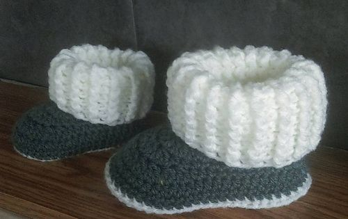 Baby Newborn Booties Ravelry Toddler Ugg Style Slipper Boots Pattern By Jinty