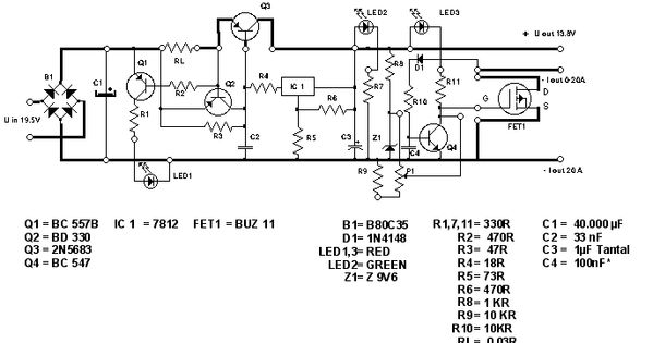electronic power limiter circuit diagram