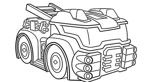 Heatwave From Transformers Rescue Bots Coloring Pages The