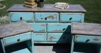 "Repainting + Distressing = I  this Turquoise ""Shabby Chic ..."
