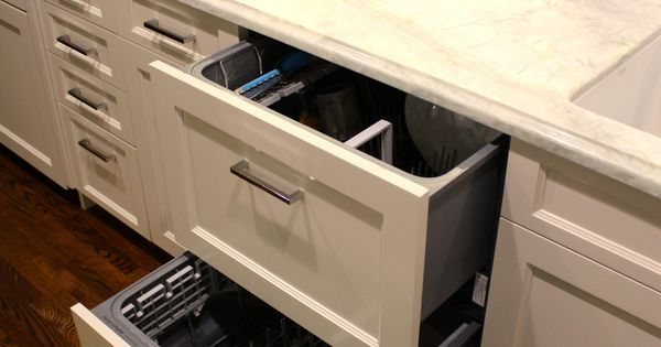 Kitchen Dark Countertops An D Cabinets Fisher & Paykel Double Drawer Dishwashers - Panel Ready