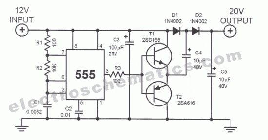 555 dc voltage doubler circuit