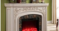 """62"""" Grand White Electric Fireplace at Big Lots. 
