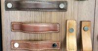 leather cabinet hardware drawer knobs pulls handles ...