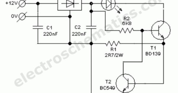 auto white led light circuit schematic