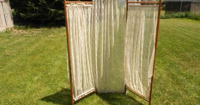 Antique Lace Victorian 3 Panel Oak Stick and Ball Dressing Room Divider Screen | DIY/I can make ...