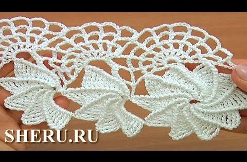 Crochet spider web lace tutorial 23 1 2