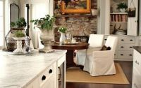 rustic flooring, white trim and cabinets and perfect wall ...