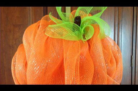 Fall Pumpkin Iphone Wallpaper Deco Mesh Pumpkin Youtube Wreaths Amp Door Hangers