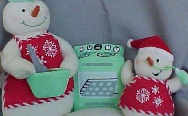 Snow Chefs Plush Singing Snowmen Hallmark Toys Bread