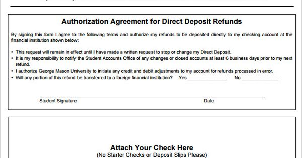 Direct Deposit Form Example  BesikEightyCo