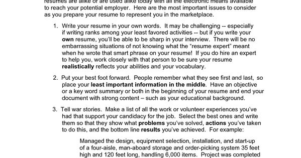 decd resume requirements