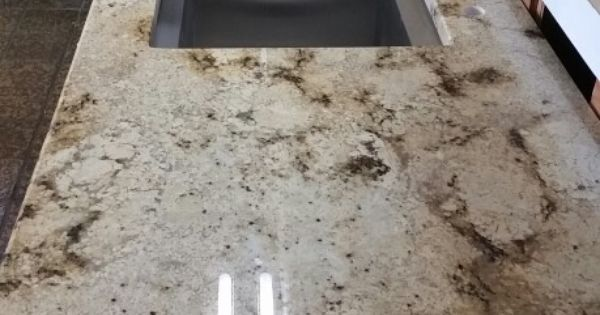 Kitchen Island Counters Sienne Brulee Granite And Kohler Double Sink | For The