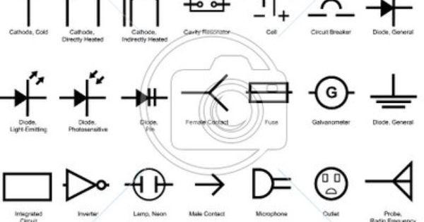 electrical blueprint symbols glossary