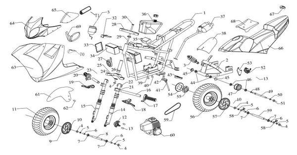 pin pocket bike diagram on pinterest