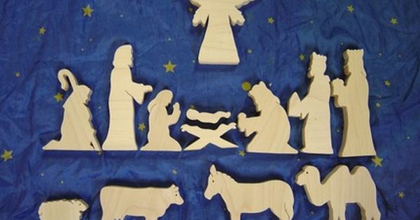 Vorlagen Für Schwibbogen Wooden Nativity Set 13 Piece Set | Christmas | Pinterest