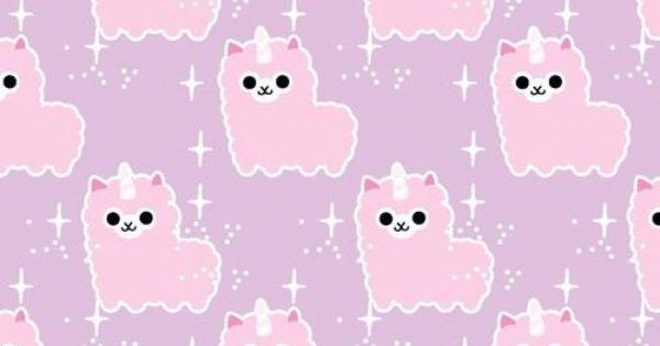 Cute Llama Wallpaper Desktop Super Cute Llama Corn Wallpaper Kawaii Pinterest
