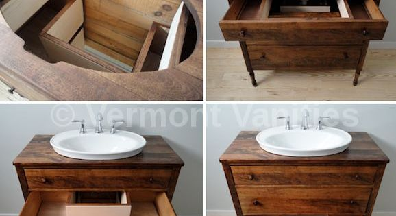 Vessel Sink Recessed Into Cabinet Google Search
