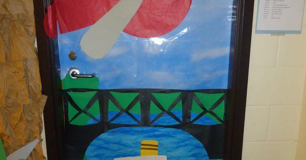 Transportation door decoration
