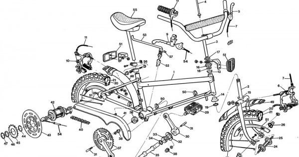 engineering schematics bicycle