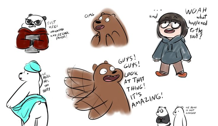 Gravity Falls Iphone 5 Wallpaper We Bare Bears Grizzly Quot Grizz Quot Panda Ice Bear Chloe