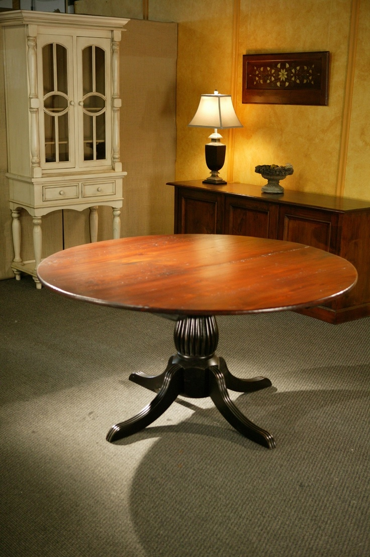 kitchen tables round round kitchen tables Round Kitchen Tables With Black Fluted Pedestal
