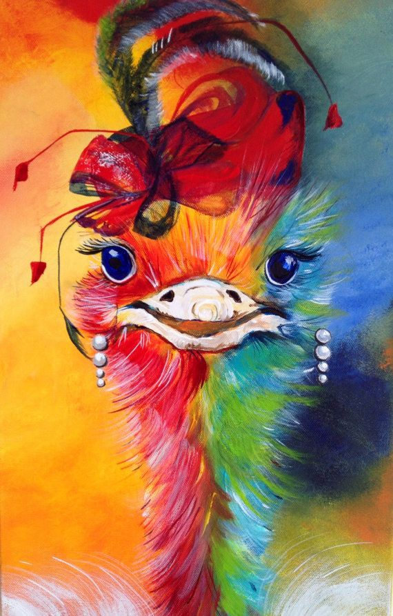 17 Best Images About Ostrich Art On Pinterest