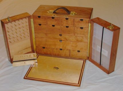 Wooden Fly Box Plans Sapele Cherry Fly Tying Case