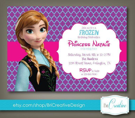 elsa invitations
