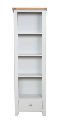 tall narrow bookcase solid wood  Roselawnlutheran