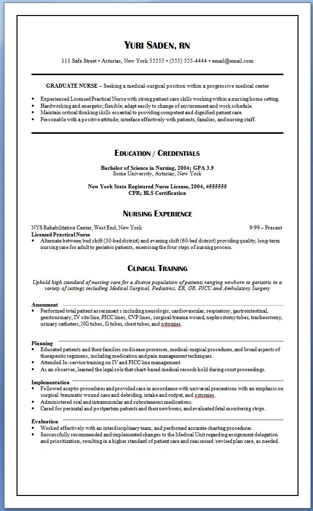 example of oncology nurse resume