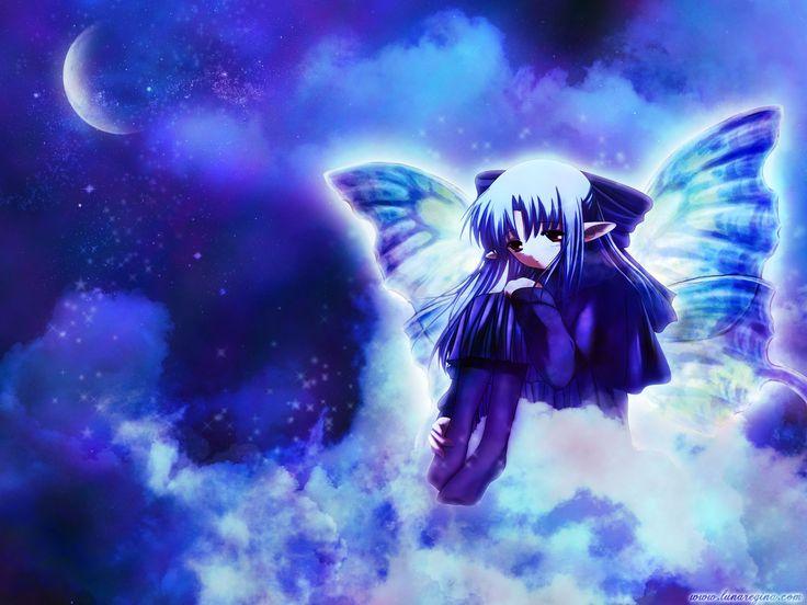 Boy N Girl Sad Wallpaper Lonely Anime Girl Lonely Girl Anime Girl Moon Wings