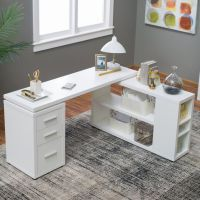 Hudson L-Shaped Desk - White | Home, The o'jays and Gray