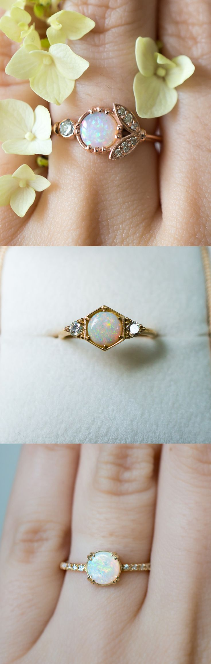 unique vintage rings vintage wedding ring Unique vintage inspired Opal engagement rings by S Kind Co