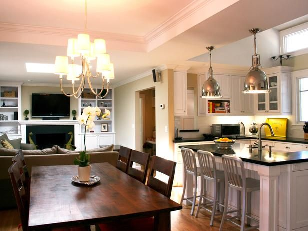 Small Living Room, Kitchen, Dining Room Combo | House | Pinterest
