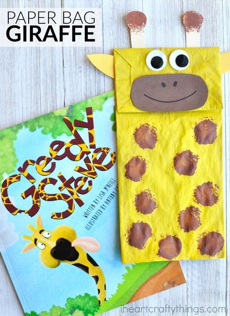 adorable paper bag giraffe craft