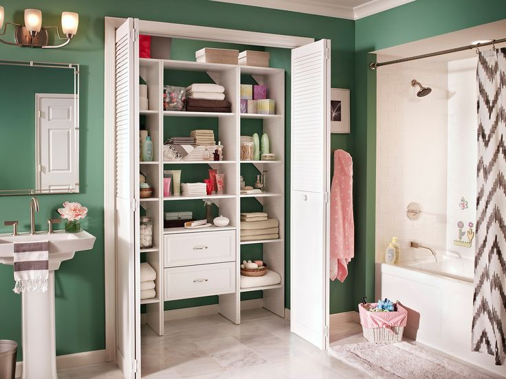210 Best Images About Bathrooms Linen Closets On Pinterest Linens Bathroom Cabinets And