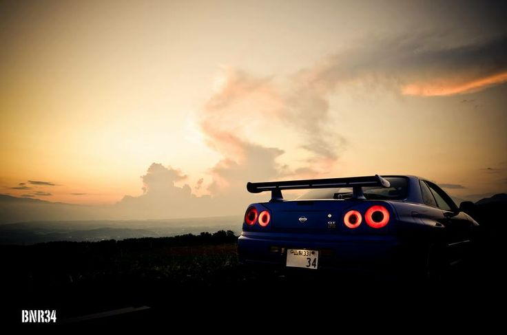 Single Girl Hd Wallpaper Staring Into The Sunset Nissan R34 Skyline Nice Cars